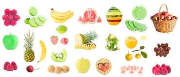 Photo of fresh fruit set. High resolution photo of fresh fruit set Royalty Free Stock Images