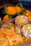 Photo of fresh orange citrus peeled and sectioned Royalty Free Stock Photography