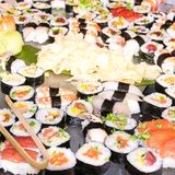 Photo of fresh sushi platter with a lot of variety Royalty Free Stock Photography