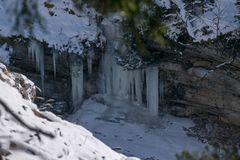 Photo of a frosen Landscapes. A Photo of a frosen Landscapes Royalty Free Stock Photography