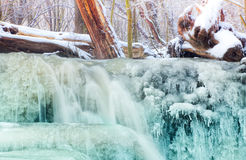 Photo with a frozen brook Stock Photography