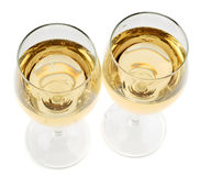 Photo of full transparent wine glasses Royalty Free Stock Photos