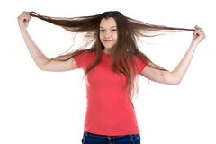 Photo of funny teenage girl Royalty Free Stock Photography