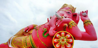 Photo Ganesh pink Royalty Free Stock Images