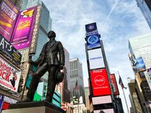 George M Cohan statue in Times Square. Photo of the George M Cohan statue in Times Square, NYC, USA Royalty Free Stock Image
