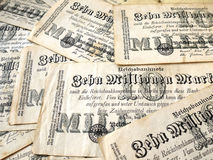 German money in 1923 Stock Photography