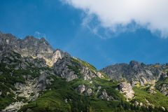 Mountain landscape of Tatra mountains royalty free stock photography