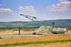 Photo of a giant quarry excavator. Stock Photos