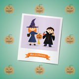 Photo of girl and boy on the Halloween Royalty Free Stock Images