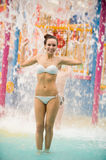 Girl in the water park Stock Photography
