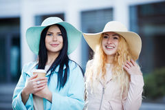 Photo of girlfriends having coffee Royalty Free Stock Image