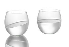 Photo of a glass which looks like a fish, goldfish bowl Stock Photo