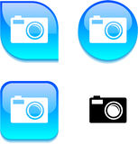 Photo glossy button. Royalty Free Stock Photography