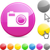 Photo glossy button. Stock Photography