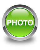 Photo glossy green round button Royalty Free Stock Photography
