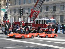 Go Carts and Fire Truck Stock Images