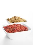 Mulberries and Goji berries in Bowls Royalty Free Stock Images