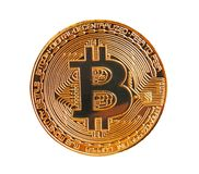 Bitcoin digital cryptocurrency gold coin Royalty Free Stock Photography