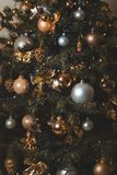 Photo of Gold And Silver Christmas Ornaments stock image