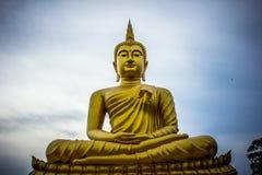 Photo of Golden Gautama Buddha royalty free stock images