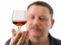 Photo-Graphics. Mister tasted fine cognac. This image has attached release Royalty Free Stock Photography
