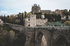 Photo of Gray Castle and Bridge Royalty Free Stock Photo