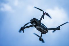 Photo of Gray Quadcopter on the Sky Stock Photos