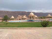 Great shiv temple in aravali parvat royalty free stock images