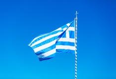 Photo of the greek flag Stock Photos
