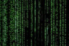 Photo of Green Data Matrix royalty free stock photography
