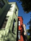 Colorful Row Homes in Georgetown Stock Photo
