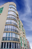 Photo of green white modern apartment building Royalty Free Stock Images
