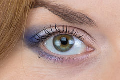 Photo of the green woman's eye Royalty Free Stock Photography