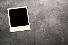 Photo on grey wall Royalty Free Stock Images