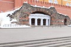 Photo of grot in Alexander garden in spring, Russia, Moscow. Photo of a grot in Alexander garden in spring, Russia, the center of Moscow, photo made by canon Stock Image
