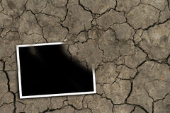 Photo on the ground. Black photo in the ground stock illustration