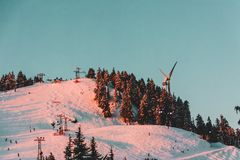 Mt Seymour Ski Resort With Fresh Snow Stock Photo Image