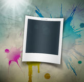 Photo on grunge background Royalty Free Stock Photo