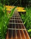Photo guitar on the grass Royalty Free Stock Photography