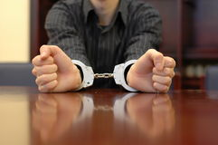 Photo handcuffs Royalty Free Stock Images