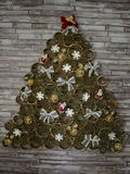 A photo of a handmade Christmas tree. ! stock images