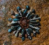 Mandala Of Words Handwriting Motto On A photo