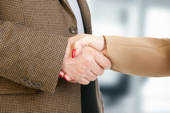 Photo of handshake of business partners after striking deal Royalty Free Stock Photography