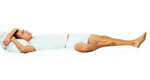 Photo of handsome man sleeping Stock Images
