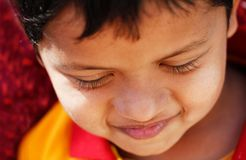 Photo of handsome, young and shy indian/asian boy Stock Photography