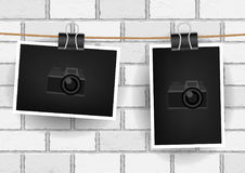 Photo hanging wall background Royalty Free Stock Image