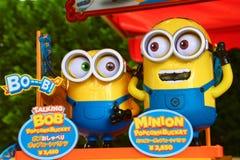 Photo of HAPPY MINION popcorn box Royalty Free Stock Photo