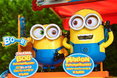 Photo of HAPPY MINION popcorn box Royalty Free Stock Photos