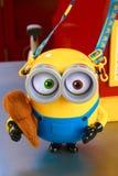 Photo of HAPPY MINION popcorn bucket Stock Image