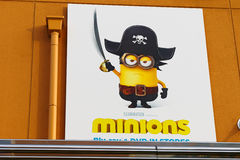Photo of `HAPPY MINION` Wall Poster Stock Image